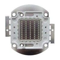 50W 36V 3000mA Square Base UV Ultraviol 395nm SMD LED Light Part For Sterilization