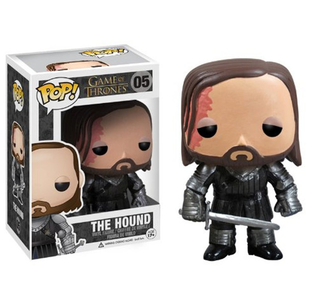FUNKO POP New Game of Thrones The Hound 05 # Caracteres Vinyl Collectible Modelo Figuras de Ação Brinquedos para As Crianças de Natal presente