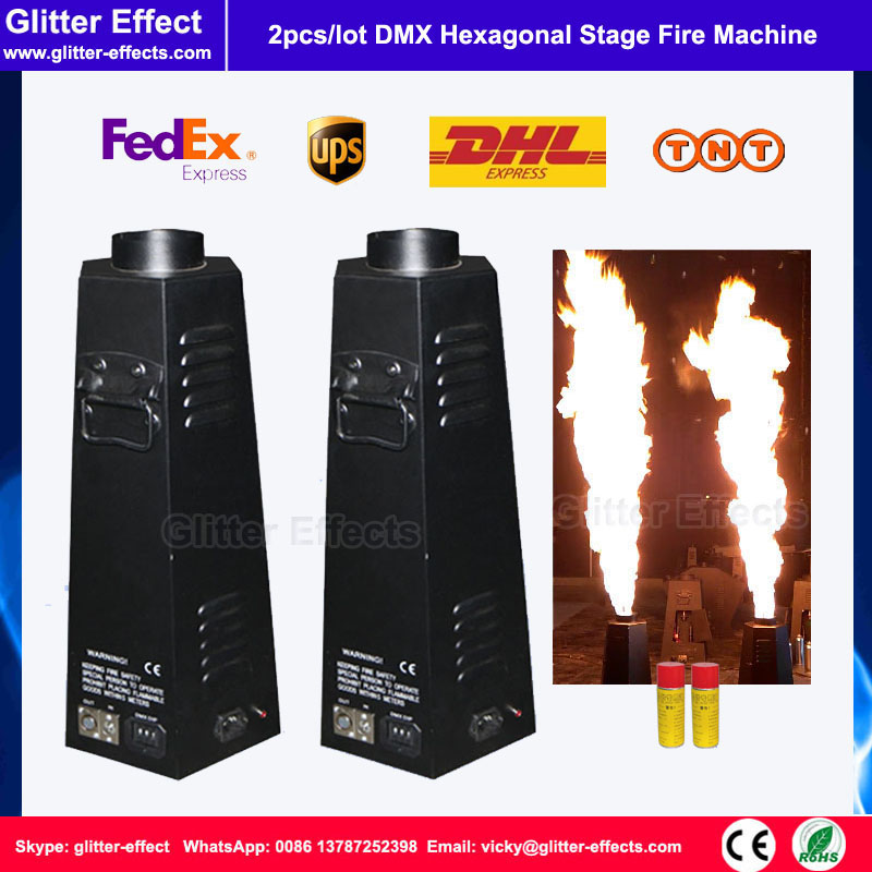 2pcs/lot 100W DJ Normal fire flame projector Stage show Disco Special Effect DMX 512 hexagon spray fire machine 2pcs lot fire machine flame machine 3m height special effect fire spray machine dmx 512 fire thrower