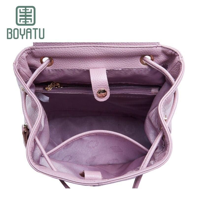 de couro sacolas de ombro Feature : Feminine Backpack