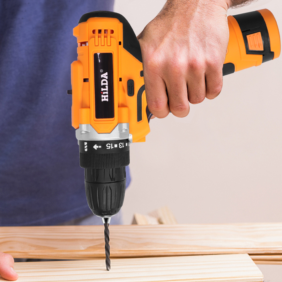 Electric Drill With Rechargeable Lithium Battery Electric Screwdriver Cordless Screwdriver Two speed Power Tools 12V