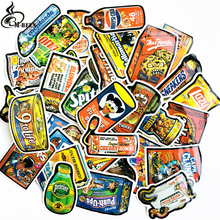 50pcs/lot Spoof food packaging stickers for Skateboard Laptop Luggage Fridge Phone Car-Styling doodle American car Sticker