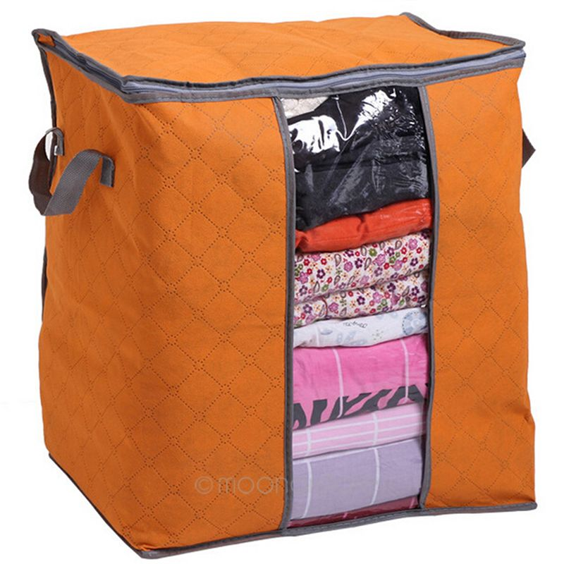 Aliexpress Foldable Clothes Pillow Blanket Closet Underbed Storage Bag Organizer Box Bags Transpa Window From Reliable Bo Bins