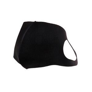 Image 4 - 1 шт., дышащая черная маска для рта в стиле K POP