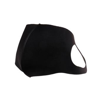 1Pcs Breathable Black Kpop Mouth Mask Unisex Sponge Face Mask Reusable Anti Pollution Face Shield Wind