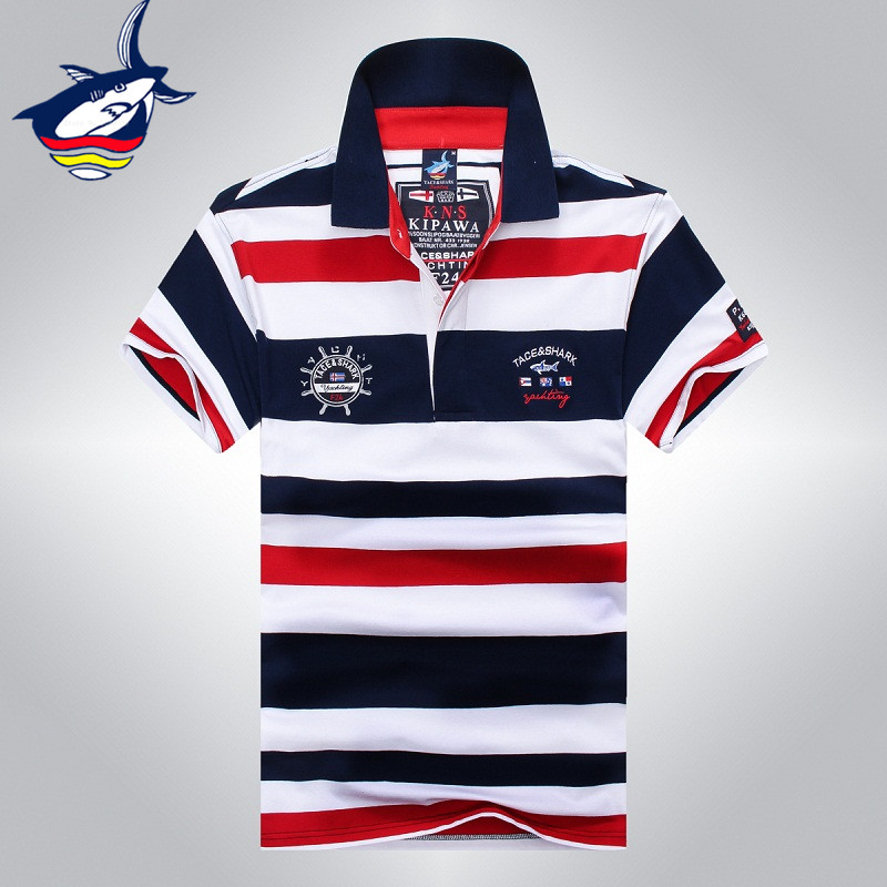Tace&Shark Fashion Brand T shirt Men's Short Sleeve Summer male Top Tees Casual T-shirt For Man solid cotton Sharked men t shirt