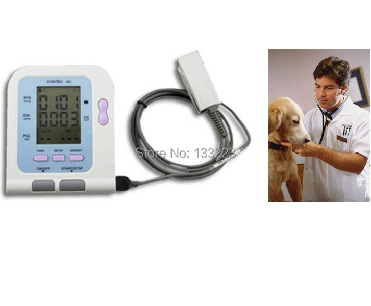 CONTEC08C Electronic Automatic Arm Blood Pressure Monitor Hospital Use With Soft ware + Veterinary Use SPO2 contec electronic digital arm blood pressure monitor 08c spo2 probe heart beat meter sphygmomanometer with oximeter probe