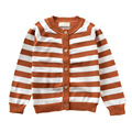 Fashion Stripes Button-front Toddler Kids Cardigan Unisex Little Girl Boy Knitted Sweater Spring/Autumn Outwear Tops MA02MY