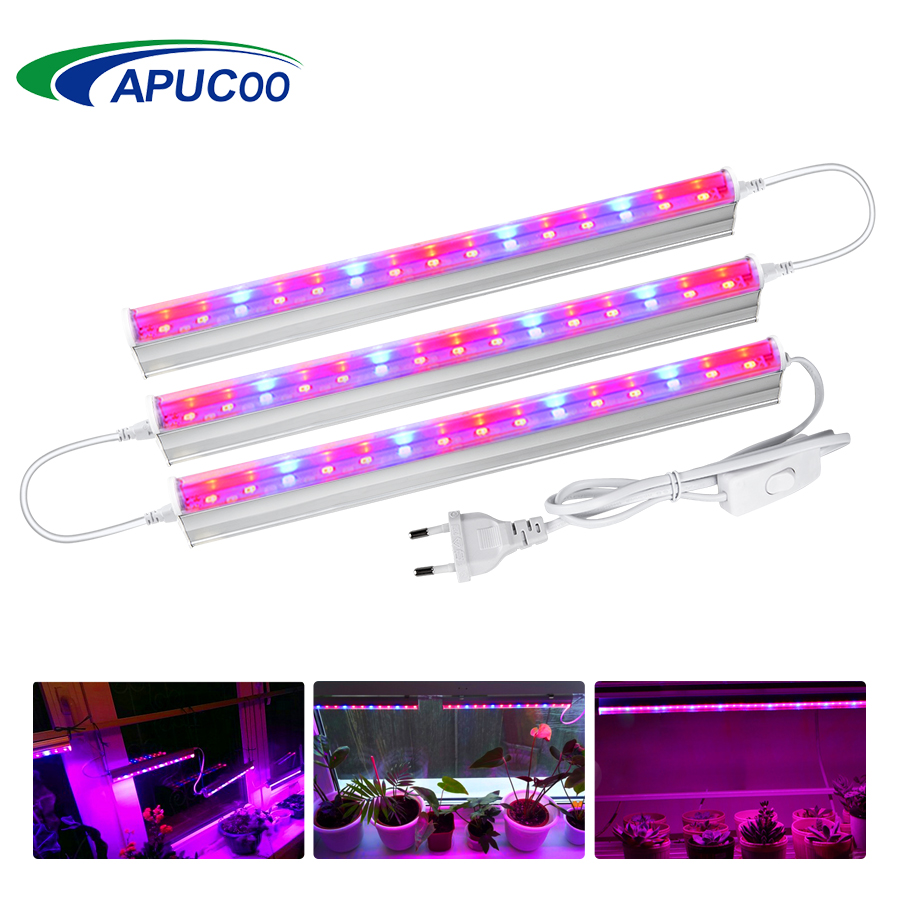 T5 Tube LED Grow Light Plant Growing Light Bar Indoor Grow Tent Phyto Lamp for Desktop Plants Flowers Seeds Aquarium Phytolamp(China)