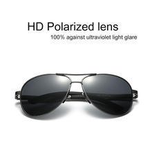 Famous Brand Sunglasses aviator Men Polarized UV400 For Driving Original Luxury Male Sun Glasses Men's Alloy