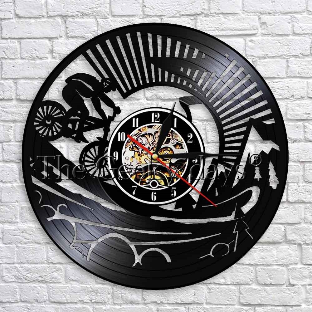 CD Horloge Murale Design Moderne Rétroéclairage DEL Horloges Crâne Mur Montre Home Decor
