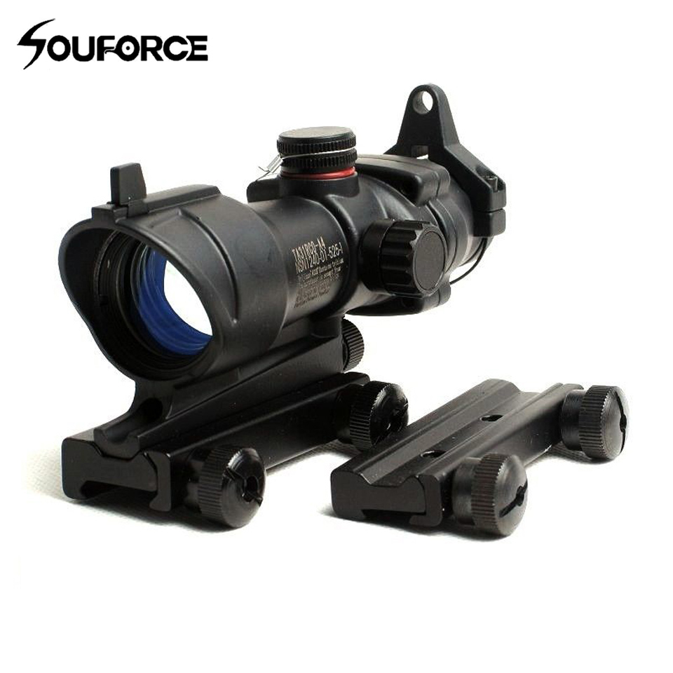 Hot Sell Tactical Rifle Scope Red Green Dot Reticle 11mm to 20mm Weaver Scope Mount Optical Sight For Rifle Hunting Accessories tactical 2x28 rifle scope green optical fiber dot sight riflescope hunting shooting for 20mm weaver picatinny rail mount