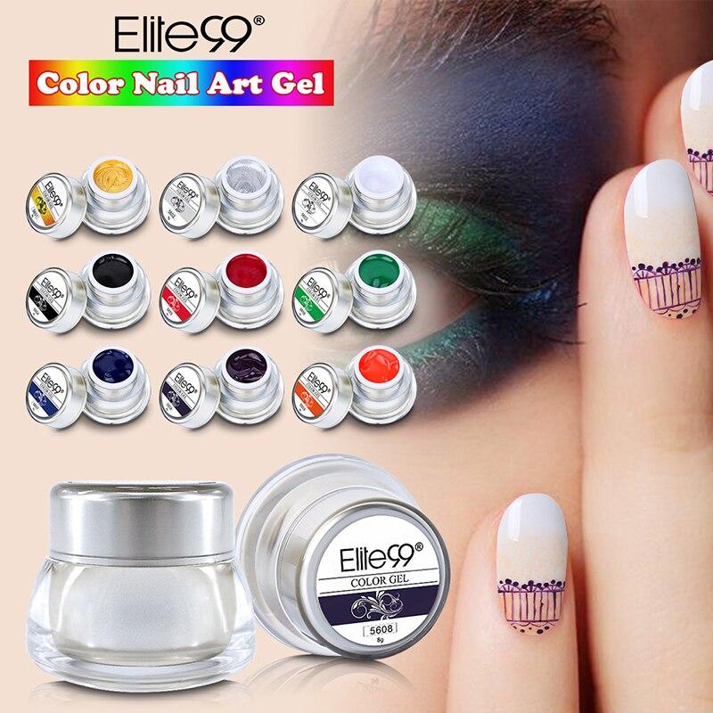 Elite99 3D Painting DIY Manicure Paint Drawing Pattern 8ml Wonderful ...