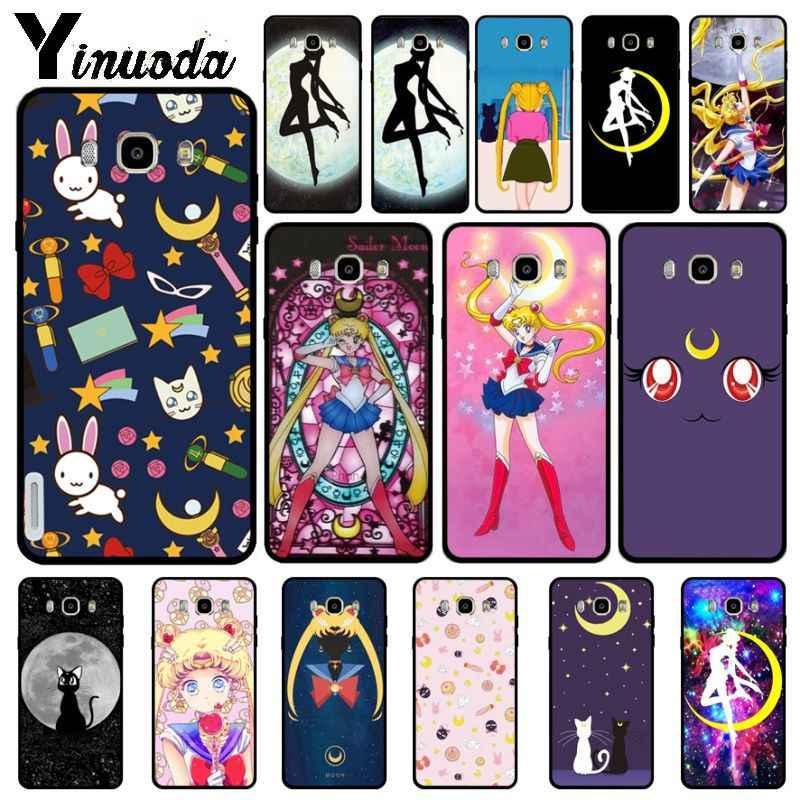 Yinuoda Sailor Moon DIY ภาพวาดโทรศัพท์สำหรับ Samsung Galaxy j6plus j7 prime j8 j2 prime j4plus 2018 ฝาครอบ