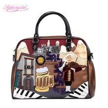 Aidocrystal Music bar scene Women Handbag Top Quality Shoulder Bags Designer Lady Messenger Top Handle Bags Large Travel Bags