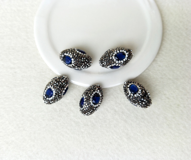 Beads & Jewelry Making 10pcs Blue Gem Stone Druzy Beads Pave Rhinestone Connector Spacer Beads For Diy Making Bracelet Necklace Jewelry Finding Bd119 We Have Won Praise From Customers Jewelry & Accessories