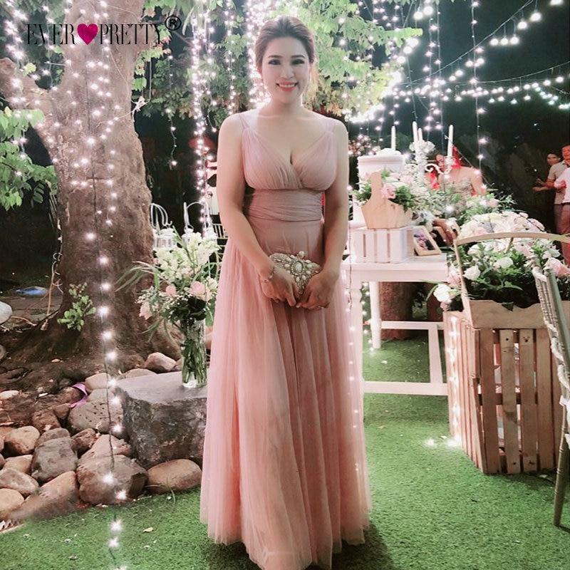 Ever Pretty Blush Prom Dresses 2018 EP07303 Una línea de piso de - Vestidos para ocasiones especiales