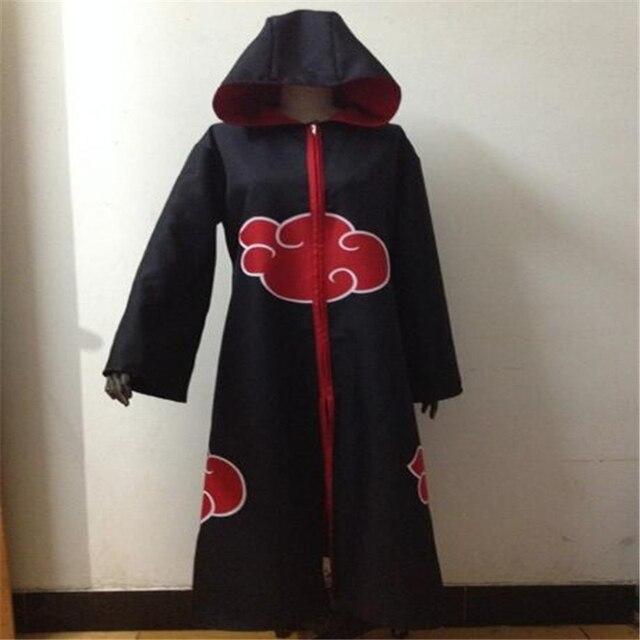 Chất lượng cao NARUTO Akatsuki Uchiha Sasuke Đen Áo Liền Quần Áo Gió Nam & Nữ Hóa Trang Phục Hóa Trang Halloween
