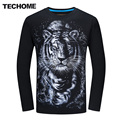 3D Майка Мужчин Плюс Размер 6XL Хлопок Топы Tee Белый тигр Отпечатано Loog Рукав Хлопок Футболка Мужчины Хип-Хоп Camisetas Бренд одежда