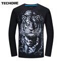 3D T Shirt Homens Plus Size 6XL Algodão Tops Tee Branco tigre Impresso Loog Manga de Algodão T-shirt Dos Homens do Hip Hop Camisetas de Marca roupas