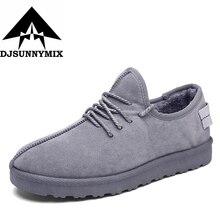 Djsunnymix Фирменная Новинка супер теплый человек Модные Мужские зимние сапоги Утепленная одежда обувь Рабочая Для мужчин