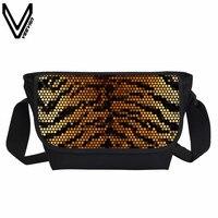 2017 VEEVANV Zebra Tiger Stampa Messenger Borse Per Adolescenti Fashion Casual Sacchetti di Scuola College Sacchetti Multicolori Bookbags