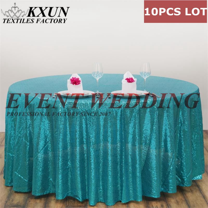 Thick 10PCS Round Sequin Table Cloth Wedding Tablecloth Cover For Event DecorationThick 10PCS Round Sequin Table Cloth Wedding Tablecloth Cover For Event Decoration