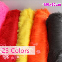 Free shipping Plain Faux Fur 90 mm soft pile ideal for Clothing, cosplay garments throws Fabric 58