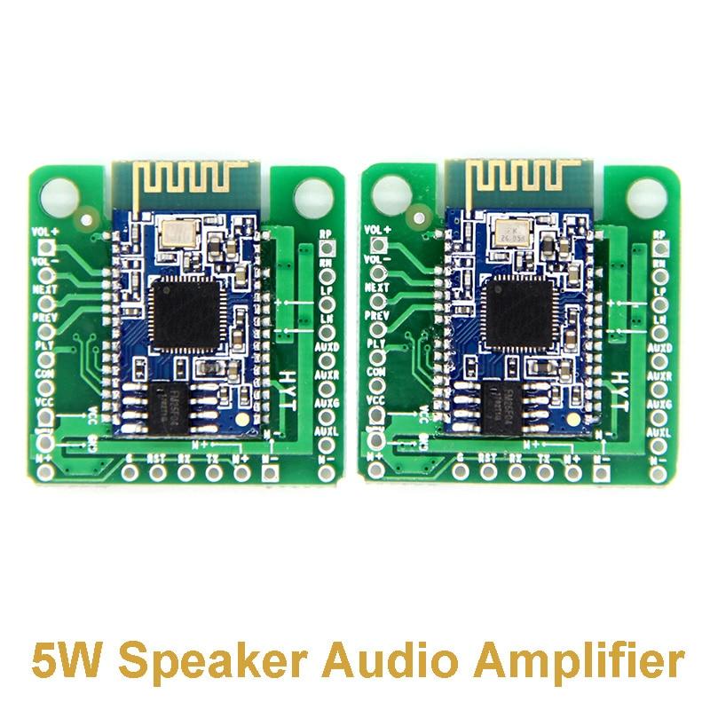 2pcs/pair Bluetooth TWS Power Amplifier Board AUX Audio Reception BK8008 Stereo Dual 5W Speaker Audio Amplifier