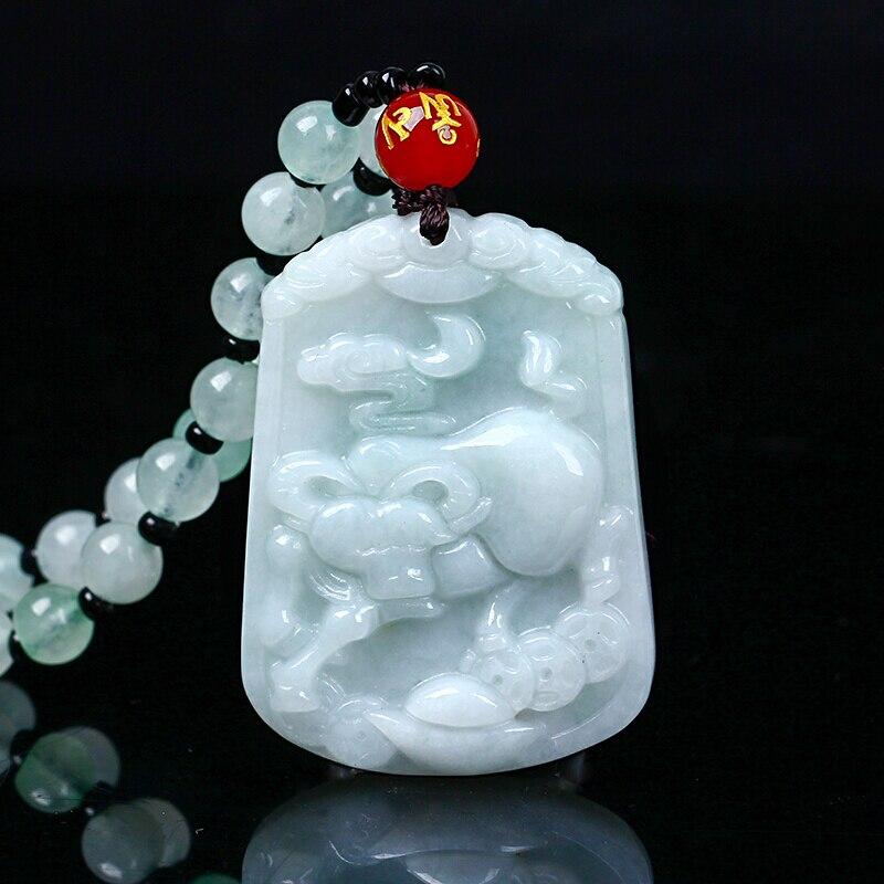 Pendentif en jade naturel du zodiaque chinois jade, transbordement de bovins, jade Yu, pendentif de collier, envoyer un certificat