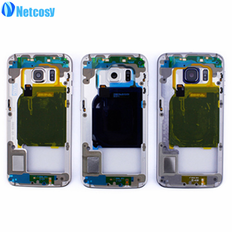 Netcosy For s6 edge Middle Frame Plate Housing Cover Bezel Chassis replacement parts For Samsung Galaxy S6 edge s6edge G925