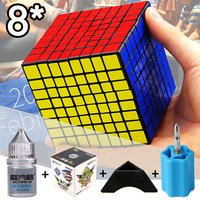 New Speed Cube 8x8x8 8.3CM ShengShou 5 Suit Professional Puzzle Neo Cubo Magico Sticker Toys For Children Adult Education Toy