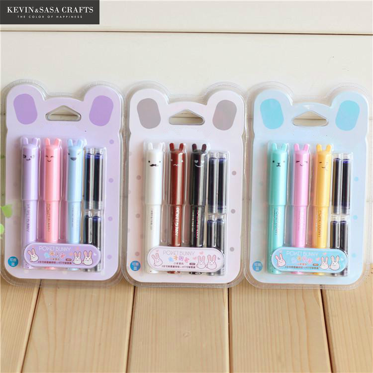 New Fountain Pen Cute Gift Set School Supplies 0.5mm Office Supplies Office Accessories Pen Ink Pen High Quality Gift Pen Set high quality cute pen holders small objects storage box office supplies