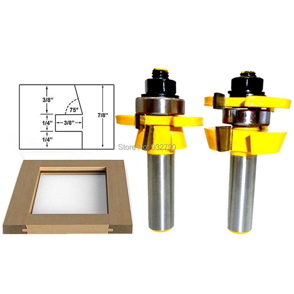 2pcs Rail Stile Router Bit Set Shaker 1 2 Quot Shank Carbide