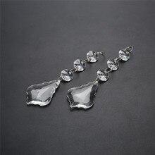 10 стекло для ПК кристаллы клен лампа с листьями световые призмы Запчасти подвесная освещающая люстра части Подвеска Висячие домашние декоративные предметы