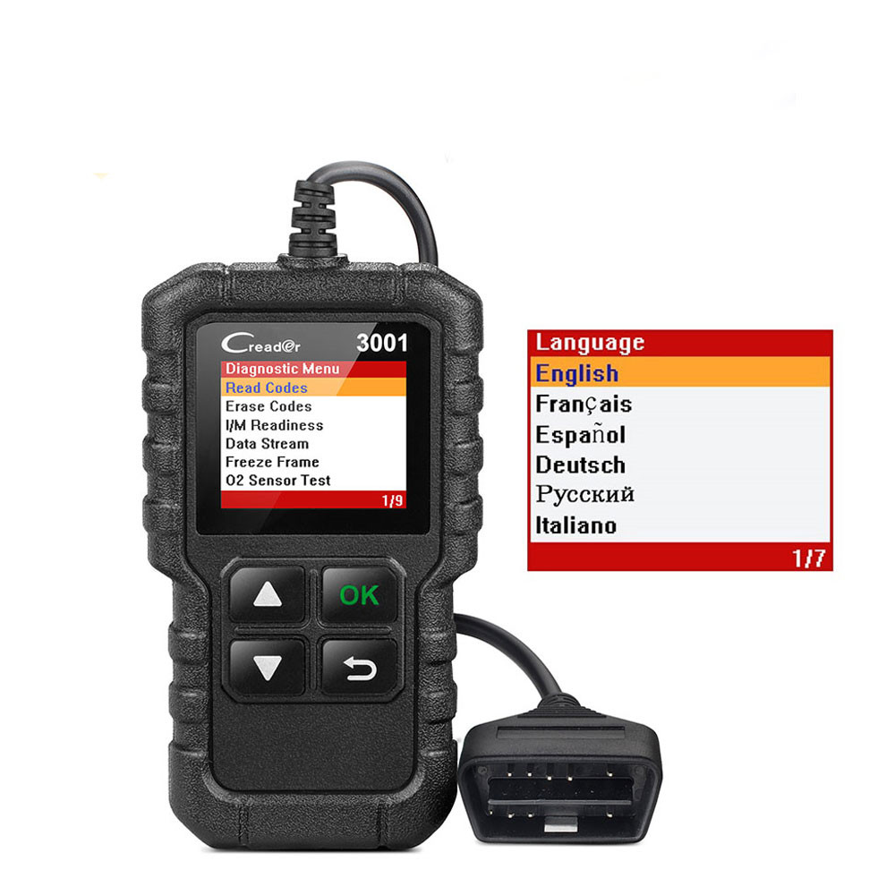 LAUNCH X431 Creader 3001 Full OBD2 OBDII Code Reader Scan tools CR3001 OBDII Car Diagnostic tool PK AD310 ELM327 OM123 Scanner