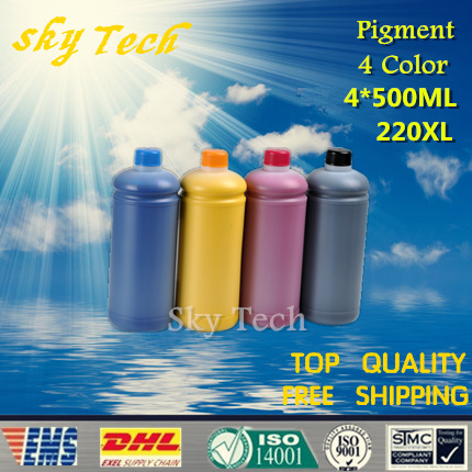 все цены на  500ML*4  Pigment ink For Epson 220XL ( T2201-T2204 ) , Water proof Ink For Epson WF-2630 WF-2650 WF-2660 XP-320 XP-420 XP-424  в интернете