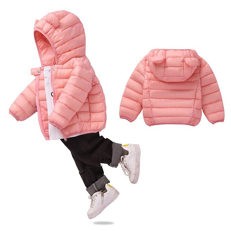 COOTELILI Cute Bear Children's Parkas Winter Jacket For Girls Boys Infant Overcoat Winter Children Coats Warm Kids Jacket Baby  (6)