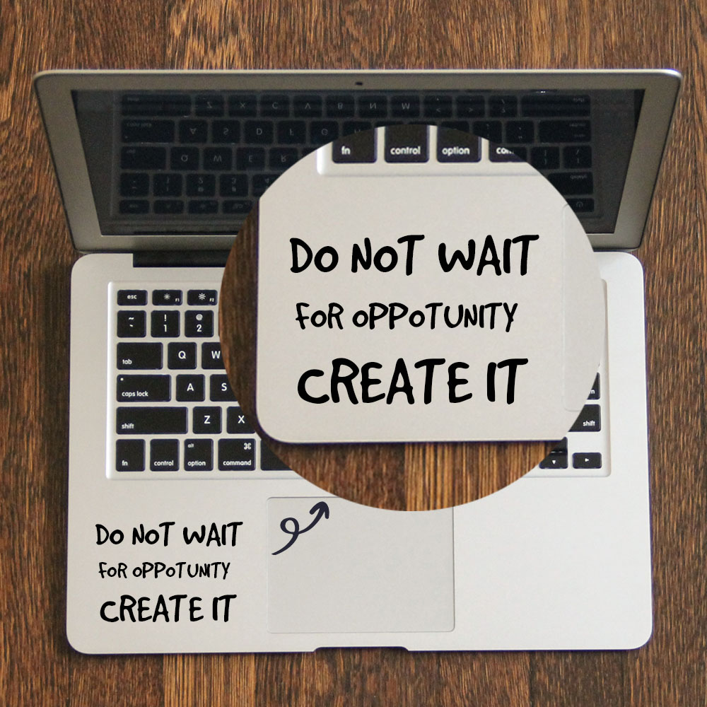 Daily Self Motivation Quote Laptop Trackpad Sticker for font b Apple b font font b Macbook