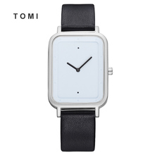Tomi 2018 New Style Man Watch Lady Rectangle Creative Minimalist Quartz Fashion and Neutral Casual Women