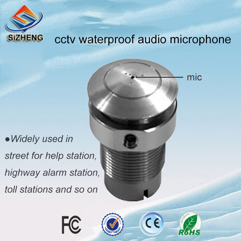 SIZHENG COTT-S8 CCTV microphone waterproof audio pick up sound monitor low noise for security camera systemSIZHENG COTT-S8 CCTV microphone waterproof audio pick up sound monitor low noise for security camera system