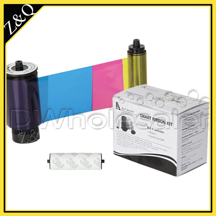 IDP Smart 650640 SIADC-P-HYMCKO HALF PANEL Ribbon and Cleaning Roller Kit for the Smart-50L printer - 350 prints