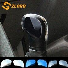 Zlord 2Pcs Stainless Steel sticker of Gear Head Shift Knob Trim for VW Golf 6 7 R GTI Passat B7 B8 CC R20 Jetta MK6 Tiguan