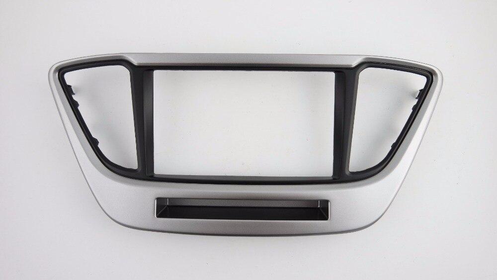 Double Din Facia for Hyundai Solaris Verna i 25 Accent 2016 Radio DVD Stereo CD Panel