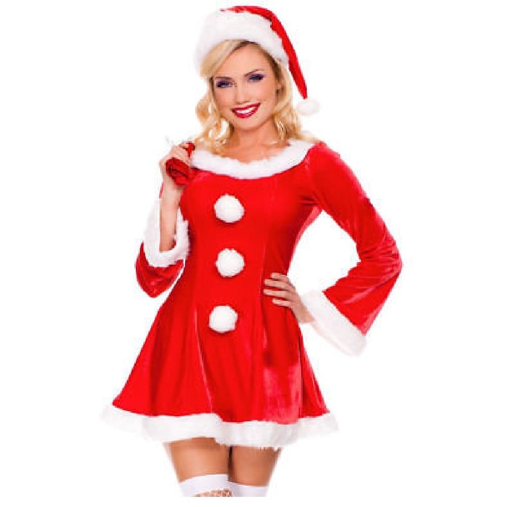 Сексуальный костюм Санта Клауса для женщин мисс миссис Клаус костюмы