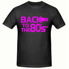 BACK TO THE 80s T SHIRT, (PINK LOGO) MENS SHIRT,SM-2XL,FANCY DRESS New Shirts Funny Tops Tee Unisex