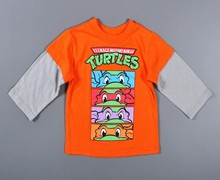 boy t shirts for children long sleeves cartoon boys t-shirt 2016 spring Teenage Mutant Ninja Turtles t shirt for boys clothes