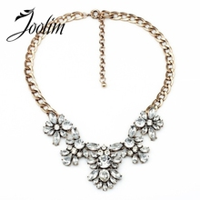 2014 New Gogeous Clear Flower Choker Necklace Charm  Statement Collar Free Shipping (Min Order $20 Can Mix)
