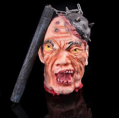 halloween decoration and prop rubber horror scary human head latex human head mask scary horror blood