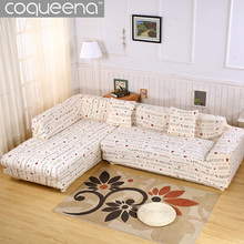 2 pieces Covers for Corner Sofa Universal Stretch Elastic Sectional Slipcovers Chaise Sofa L Shaped Sofa Covers SC029